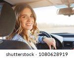 close up portrait of pleasant...   Shutterstock . vector #1080628919