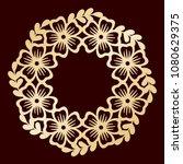 openwork floral wreath. laser...   Shutterstock .eps vector #1080629375
