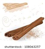 word spices. cinnamon. vector.   Shutterstock .eps vector #108063257