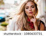 sensual blue eyed girl... | Shutterstock . vector #1080633731
