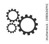 settings gears icon. cogwheel... | Shutterstock .eps vector #1080636941