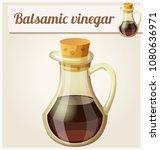balsamic vinegar. detailed icon.... | Shutterstock . vector #1080636971