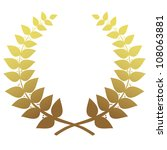 gold laurel wreath isolated ... | Shutterstock .eps vector #108063881