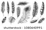 set of rustic realistic... | Shutterstock .eps vector #1080640991
