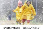 toddlers walk in the autumn... | Shutterstock . vector #1080644819