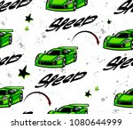 speed sport car repeated...   Shutterstock .eps vector #1080644999