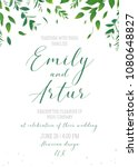 wedding floral greenery... | Shutterstock .eps vector #1080648827