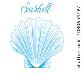 clam bivalve sea shell hand... | Shutterstock .eps vector #1080654197