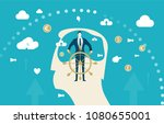 abstract silhouette of human's... | Shutterstock .eps vector #1080655001