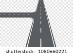 road. intersection on left....   Shutterstock .eps vector #1080660221