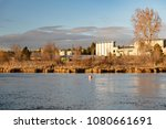 view of a brewery along the...   Shutterstock . vector #1080661691