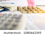 coins stacked on each other in... | Shutterstock . vector #1080662345