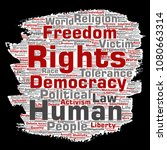 conceptual human rights... | Shutterstock . vector #1080663314