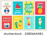 summer hand drawn calligraphyc... | Shutterstock .eps vector #1080664481