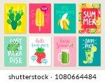 summer hand drawn calligraphyc... | Shutterstock .eps vector #1080664484