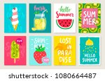 summer hand drawn calligraphyc... | Shutterstock .eps vector #1080664487