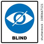 blind sign in blue circle ... | Shutterstock . vector #1080667121