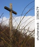 Cross With Crown Of Barbed Wir...