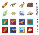 sea dinosaur triceratops ... | Shutterstock .eps vector #1080681125
