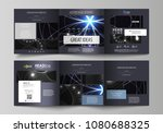 set of business templates for... | Shutterstock .eps vector #1080688325