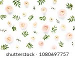 floral background texture made... | Shutterstock . vector #1080697757