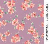 japanese style flower pattern ... | Shutterstock .eps vector #1080700361
