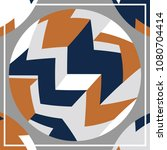 silk scarf with a geometric... | Shutterstock .eps vector #1080704414