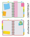 an open organizer with clean... | Shutterstock .eps vector #1080709367