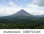 arenal volcano landscape in... | Shutterstock . vector #1080711164