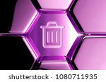 metallic magenta home icon in...