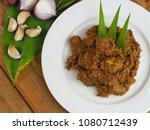 rendang daging beef rendang. a... | Shutterstock . vector #1080712439
