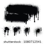spray paint abstract vector...   Shutterstock .eps vector #1080712541