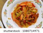 chinese vegetarian food   Shutterstock . vector #1080714971
