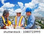 asian civil engineer team... | Shutterstock . vector #1080723995