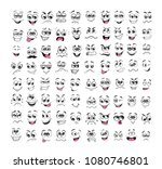 face expression cartoon.... | Shutterstock .eps vector #1080746801