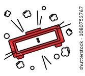 digital alarm clock pop art... | Shutterstock .eps vector #1080753767