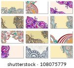 collection of colorful floral... | Shutterstock . vector #108075779