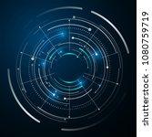 circle digital tech design... | Shutterstock .eps vector #1080759719
