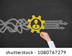 business person drawing service ... | Shutterstock . vector #1080767279