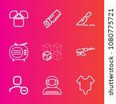 premium set with outline vector ... | Shutterstock .eps vector #1080775721