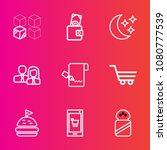 premium set with outline vector ... | Shutterstock .eps vector #1080777539