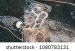 aerial view of crushed stone...   Shutterstock . vector #1080783131