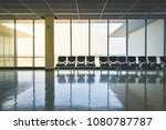 empty seat at airport terminal... | Shutterstock . vector #1080787787