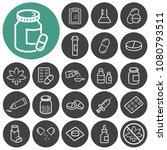 medical drugs outline icons... | Shutterstock .eps vector #1080793511