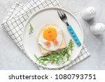 cute funny breakfast for kids.... | Shutterstock . vector #1080793751