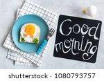 good morning breakfast for kids.... | Shutterstock . vector #1080793757