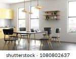 Modern Yellow Kitchen Interior...