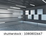 contemporary steel garage... | Shutterstock . vector #1080802667