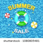 summer sale banner  background. ... | Shutterstock .eps vector #1080805481