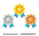 set of gold  silver  bronze... | Shutterstock .eps vector #1080805829